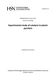 Experimental Study of Catalysis in Plastic Pyrolysis
