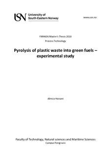 Pyrolysis of plastic waste into green fuels – experimental study