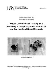 Object Detection and Tracking on a Raspberry Pi using Background